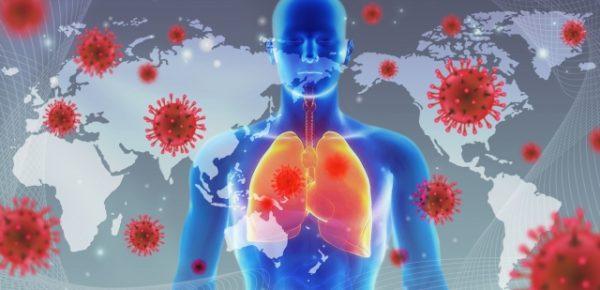 ウイルス感染拡大のイラスト