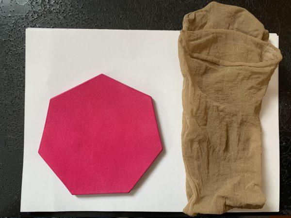 ストッキングを使った革の磨き方 写真1