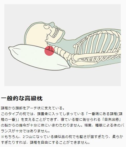 一般的な高級枕 画像