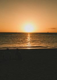 ハワイ サンセット 写真