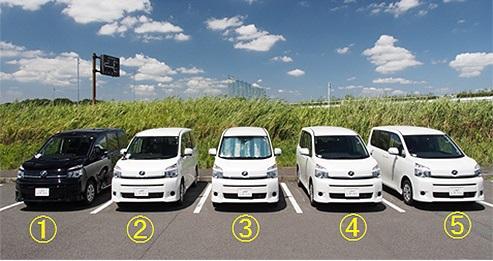 テスト車両5台 写真