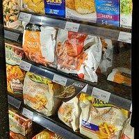 冷凍食品の袋 写真
