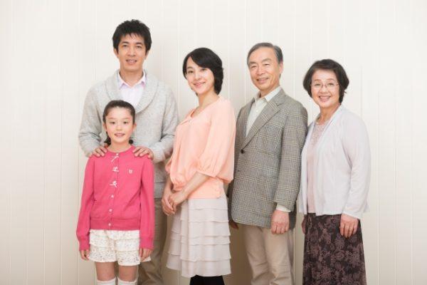 祖父母と一緒 写真