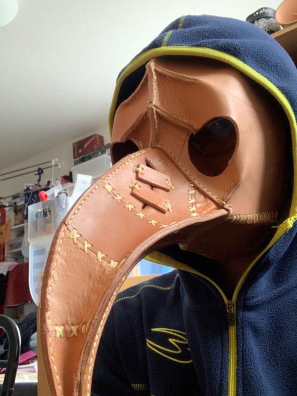 ペストマスク装着時 写真