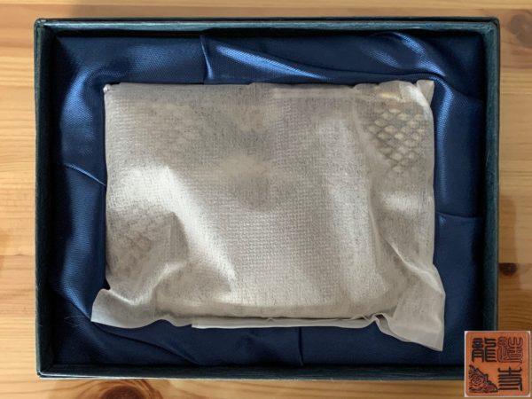 財布屋 購入商品 本物の錦蛇の革で作った財布 梱包状態 写真