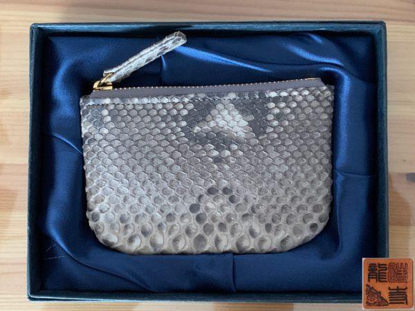 財布屋 購入商品 本物の錦蛇の革で作った財布 商品状態 写真