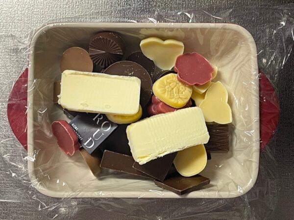 煮あずき生ガトーショコラ 材料 写真