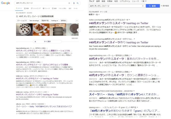 Google Yahoo! 40代 オッサン スイーツ 検索 画像