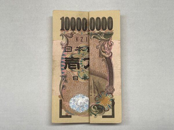 自作の一億円札 写真